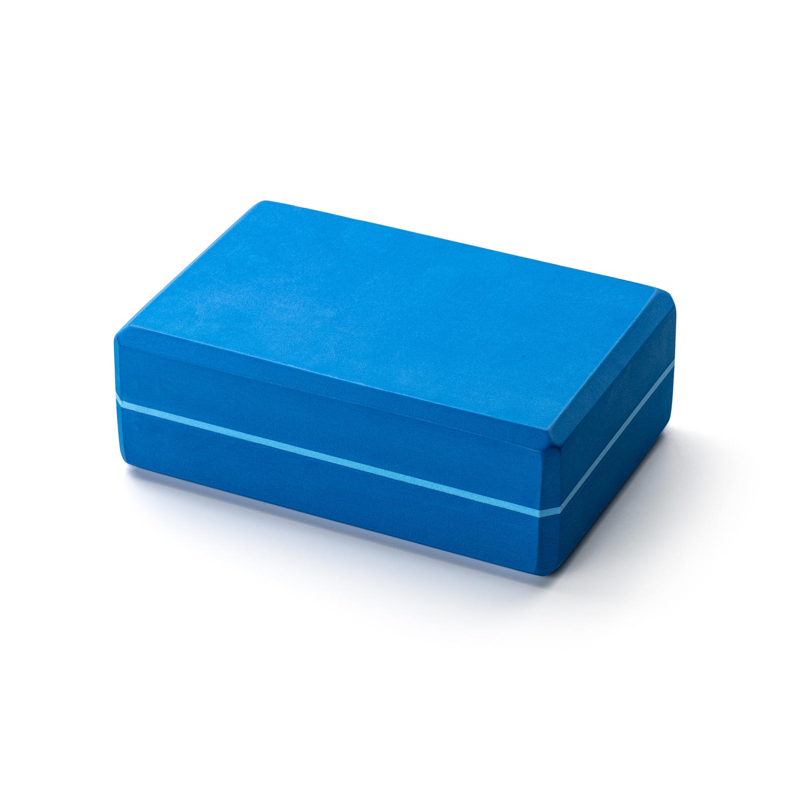 Kurma Yoga Foam Block Brick Striped Blue