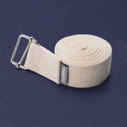 Kurma Evolve Yoga strap white on GRIP Nightfall Yoga mat