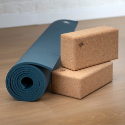Kurma yoga mat grip twillight cork brick